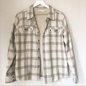 prAna | Striped Flannel Button Down Shirt